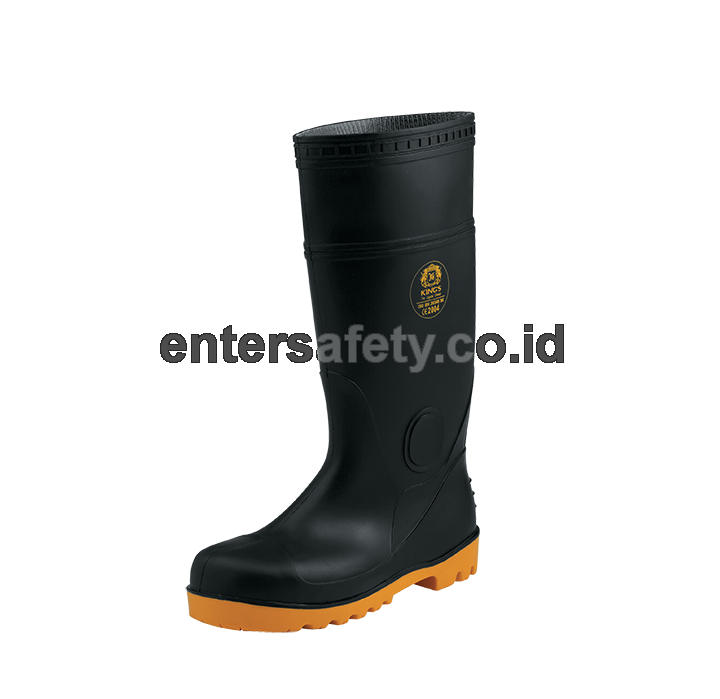 KINGS PVC BOOTS SAFETY BLACK KV20